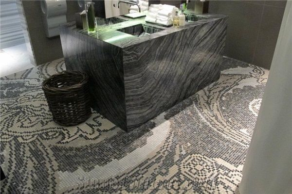 Black Wood Vein Marble Marmara Equator Marble And Mosaic Commercial