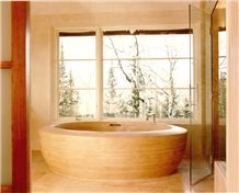 Amazing Custom Tub, Beige Limestone Bathtubs United States