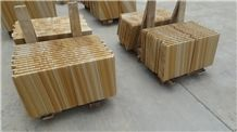 Yellow Wooden Sandstone,China Yellow Sandstone,Natural Sandstone Tiles,Slabs
