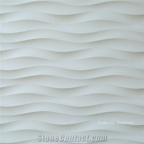3d Beige Wavy Feature Stone Wall Covering Tiles Beige