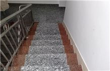 China Spray White, Sea Save, Sea Flower Granite Steps & Risers