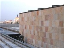 Coral Pink Quartzite Sawn Edge Wall Tiles