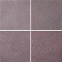 Dark Red Wine Slate- Natural Tiles & Slabs, Lilac Brazil Slate Tiles & Slabs
