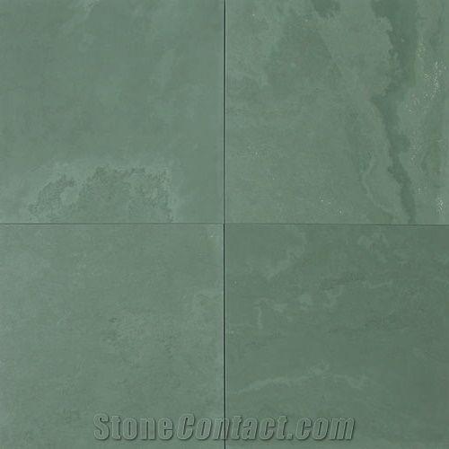 Jade Green Slate Honed Light Tiles Slabs Brazil