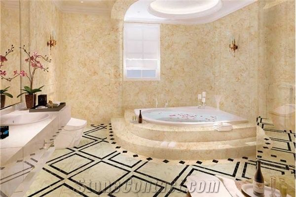 Ordinaire Egypt Beige Marble Bathroom Design,Beige Marble Bath Tub,Bathroom Decorating