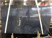 Cosmos Black Granite Polished Slabs with Golden Vein,Black Granite Slab & Tile/Stargate Cosmos Black Granite/Black Granite Slabs/Black Granite Slabs