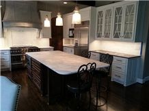 Calacatta Marble Kitchen Island and Bench Top