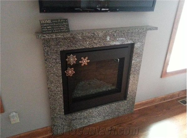 caledonia granite fireplace mantel from united states stonecontact rh stonecontact com Marble Fireplace Mantels Granite Fireplace Surround Designs