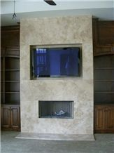 Storm Travertine Fireplace and Tv
