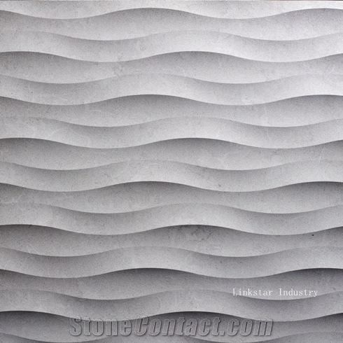 3d Interiro Feature Wavy Stone Textured Wall Cladding