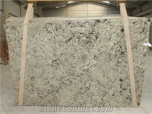 Spring Breeze Granite Slabs Tiles White Polished Granite Floor