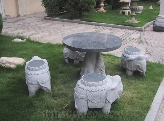 Stone Table And Chair Garden Bench Sets Outdoor Chairs Polished