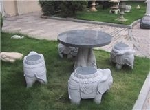 Stone Table and Chair,Garden Bench Sets,Outdoor Chairs,Polished Granite Table Sets,Table and Benches