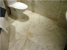 Yellow Whitish Marble Bathroom Design Greece