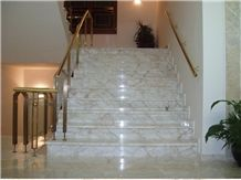 Yellow Whitish Marble Staircase Greece