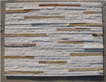White and Beige Quartzite Cultured Stone