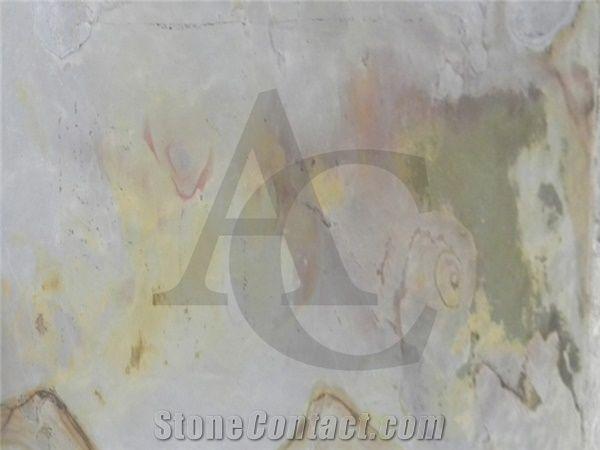 Indian Autumn Slate Tiles Slabs Thin Light Weight For Veneer