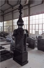 Shanxi Black Granite Tomestone