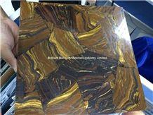 Brown Iron Tiger Eyes Semiprecious Stone Tiles