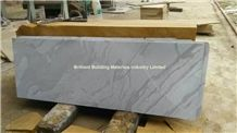 White Sandstone Slabs Wave Veins(Black Shade), White Sandstone Tiles & Slabs China Polished