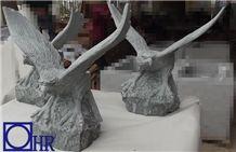 Wholesale Blue Stone Eagle Sculptures,Fujian Blue Granite G612 Eagle Sculpture, G612 Granite Sculpture & Statue