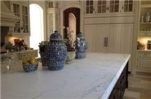 Guangxi White Marble Countertop, White Marble Kitchen Countertop