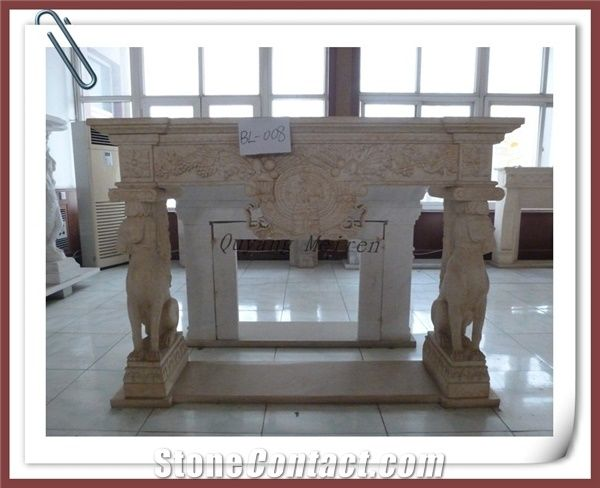 Yellow Stone Decorative Fireplace Yellow Marble Fireplace From
