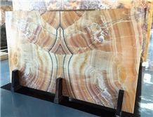 Fantasy Yellow Orange Bojnord Onyx Tiles & Slabs, Iran Yellow Onyx