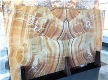 Orange Bojnord Onyx Polished Tiles & Slabs, Iran Yellow Onyx