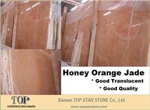 Polished Honey Amber Onyx Jasper Slabs & Tiles, China Yellow Onyx