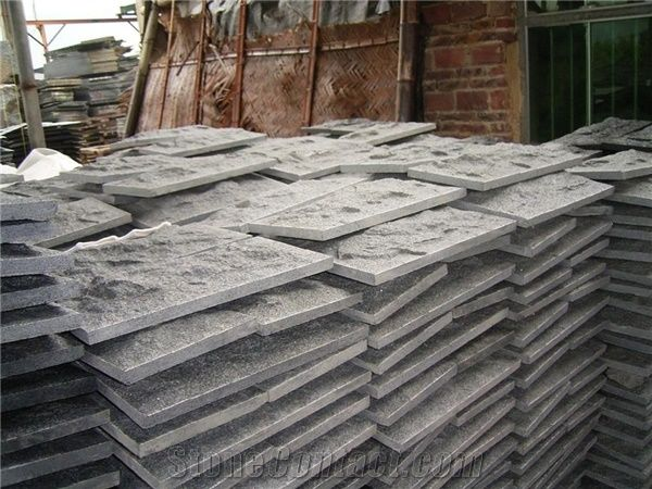 China Dark Grey G654 Granite Exterior Wall Mushroomed