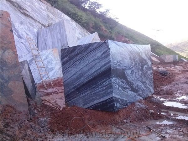 Manhattan Granite Block Brazil Black Granite