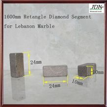 1600mm Retangle Diamond Segment for Lebanon Marble