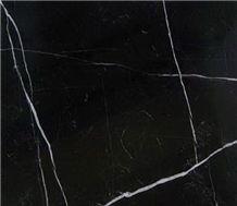 Black Marquina Marble Slabs & Tiles, Nero Moroccan Marble Blocks