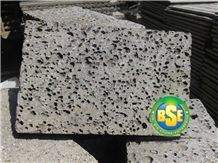 Indonesia Black Classic with Regular Hole Basalt Stone for Wall Application