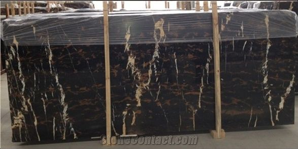 Black Marble With Golden And White Veins Black Gold