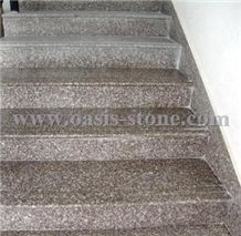 China G664 Pink Granite Stairs & Steps,Misty Brown Granite