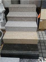 Fargo Chinese Granite Stair Treads/Staircase, Polished Granite Stair&Riser
