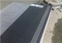 Fargo G654 Granite Step,China Black Granite Polished + Anti-Slipper Staircase & Riser