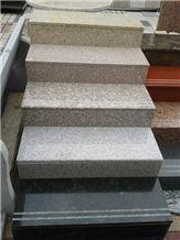 Fargo Granite Stair Treads,Granite Polished Staircase