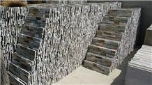Natural Surface Flooring and Wall Covering 100%Rockface Wall Panel Multicolor Culture Stone Factory Wholesale China Slate Slabs&Tiles Grey/Brown/Green/White