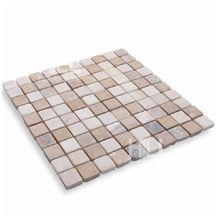 Portofino, 3x3 cm Indonesia Marble Parquetry, Mosaic