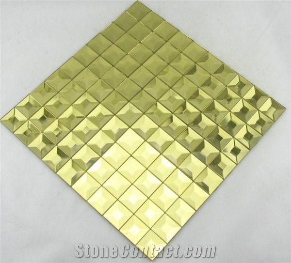 Pm011 Gold Diamond Mirror Glass Mosaic Decorative Tile From China Stonecontact Com