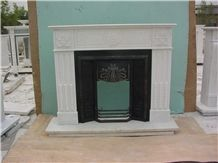 Cheapest China Natural White Marble Fireplace