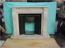 China High Quality Pure White Marble Fireplace Mantel,Hot New Design / Western / European Customized Figure / Hand Carving Sculptured / Own Factory