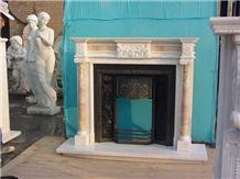 China Marble Fireplace Mantel, Decorative