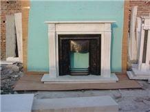 China White Marble Fireplace Interior Decorative