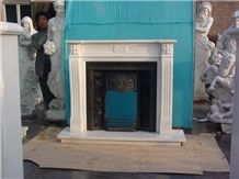 Hot Sale China White Marble Fireplace Modern Style High Quality Indoor