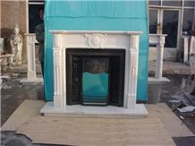 On Sale Best China White Marble Fireplace