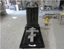 China Black Pearl Granite Angel Monuments